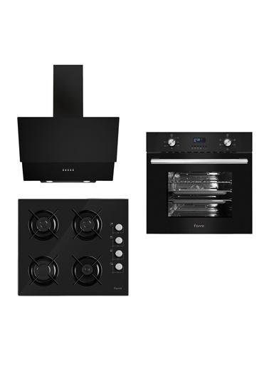 Ferre Ferre  5+0 Fonksiyonlu Turbo Digital Siyah Set ( S 2140 + 6006 + D003) Renkli